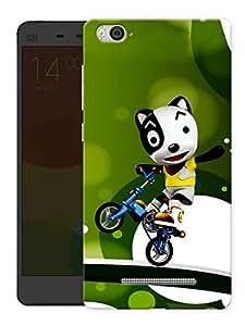 "Humor Gang Panda Riding Bike Printed Designer Mobile Back Cover For ""Xiaomi Redmi Mi 4C"" (3D, Matte, Premium Quality Snap On Case)"