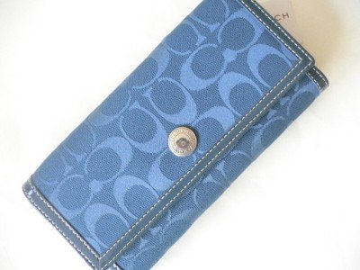 Coach Hamptons Signature Checkbook Wallet 42986