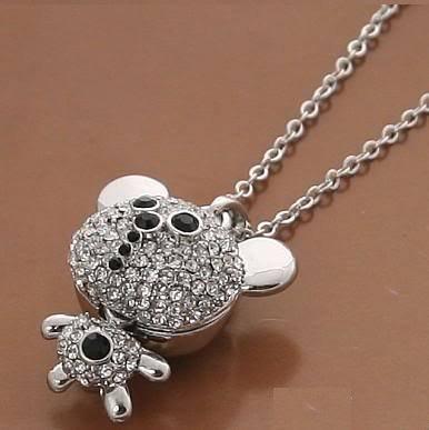 Lucky Charm Bear Black Diamond Swarovki Crystal Elements
