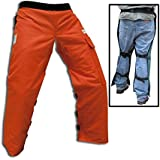 "Forester Chainsaw Apron Chaps with Pocket, Orange 36"" Length"