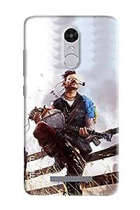 Omnam Fighter Guy Enjouing Music Printed Designer Back Cover Case For Xiaomi Redmi Note 3