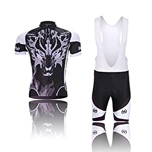 MYNEKO Mens Cool Breathable Short Sleeve Cycling Jersey Suit/ Jersey And Bib Shorts