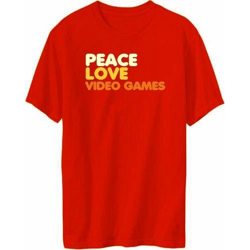 Peace Love Video Games Mens T-shirt