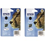 Epson T0711 Ink Cartridges - Black (Twin Pack)