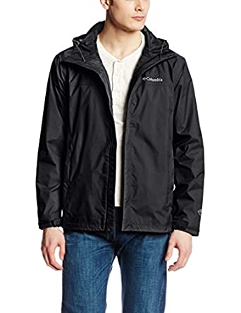 Columbia Men's Watertight II Packable Rain Jacket, Black, Small