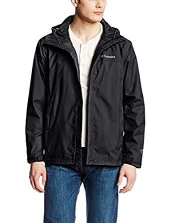 Columbia Men's Watertight II Packable Rain Jacket, Black, Small