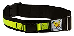 Squishy Face Studio Hands Free Dog Leash Belt, Small/Medium, Neon Yellow