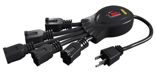 Stanley 31503 PowerSquid 5 Outlet Flexible Outlet Multiplier, Black (Flexible Power Strip compare prices)