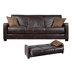 Deluxe Full Size Leather Sleeper Sofa
