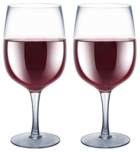Kovot Pair of Extra-Large XL Wine Glasses - Each Holds a Full Bottle of Wine