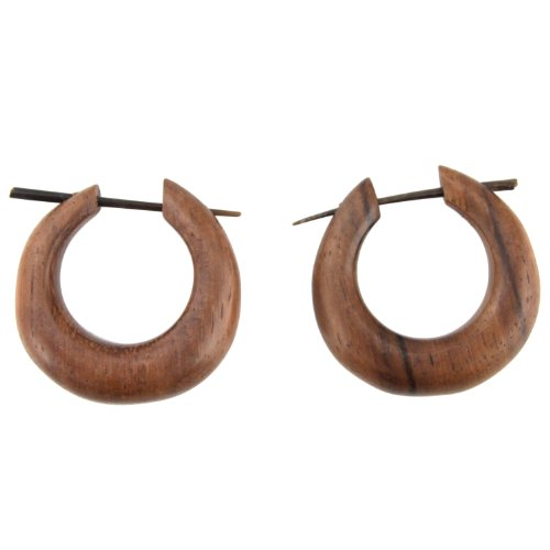 large-hand-carved-sono-wood-thick-hoop-with-horn-pin-earrings