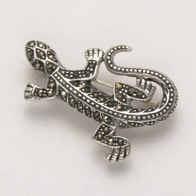 Small Marcasite Lizard Pin