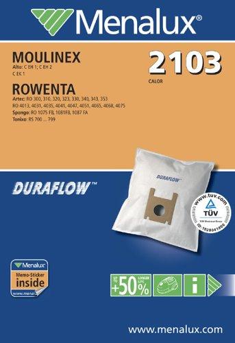 Menalux 2103 / 5 Staubbeutel / Duraflow / Moulinex / Rowenta