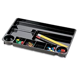 Officemate 9 Compartment Drawer Tray, Black (21302)