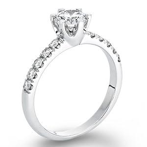 Diamant Ring 0.92 Ct W G/SI1 Round 18 Karat (750) Gelbgold (Ringgröße 48-63)