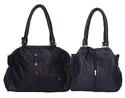 Arc HnH Women Combo Handbag Contemporary+Elegant Hand Bag- Black