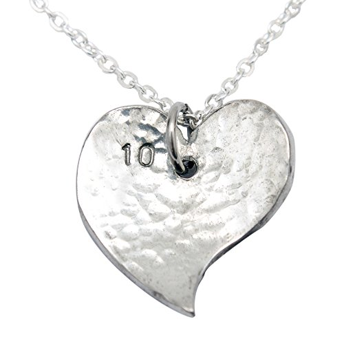 10th Year Anniversary Heart Necklace - Pure Traditional Tin