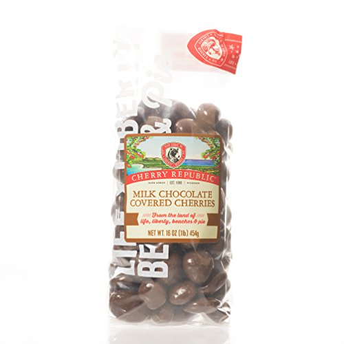 Cherry Republic Chocolate Cherries - Authentic and Fresh Chocolate Covered Cherries Straight from Michigan - Milk Chocolate, 16 Ounces (White Hot Red Hot Jelly Beans compare prices)