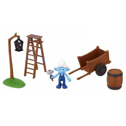 Handy in the Smurf Village Construction Gift Set: Smurfs Movie Adventure Theme Pack Series #2 - 1