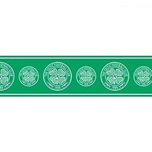 Celtic F.C. Wallpaper Border- wallpaper border- width 13.5cm- length 5m- official licensed product by Wallpaper / Lighting