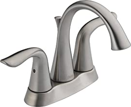 Delta 2538-SSMPU-DST Lahara Two Handle Centerset Lavatory Faucet, Stainless