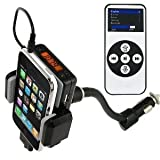 ATC FM STEREO Transmitter / Car Charger / Dock and Remote Control Hands Free Car Kit All Kit For iPhone ipod Microsoft Motorola