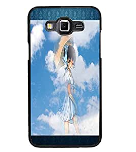 PrintDhaba Lovely Girl D-2493 Back Case Cover for SAMSUNG GALAXY GRAND MAX (Multi-Coloured)