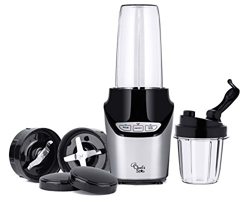 Chef's Star NE1000 1000W Nutri Extractor 8 Piece Set Blender Mixer - Black (Ninja Blade For Blender compare prices)