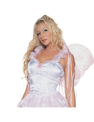 Pixie With Wings Sm Pink Adult Womens Costume