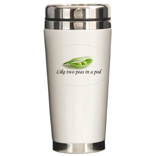 Peas In A Pod Ceramic Travel Mug By Cafepress front-507025