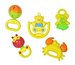 Babysid Collections Non-Toxic 5pcs Rattle Set