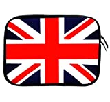 Wayzon Premium Quality 11.5 inch X 8 inch Water Resistant Neoprene Soft Zip Sleeve Case Cover Pouch Skin Holster With Union jack Design suitable for Fujitsu Stylistic Q550 3G Tablet