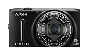 Nikon COOLPIX S9500 Wi-Fi Digital Camera with 22x Zoom and GPS (Black) (OLD MODEL)