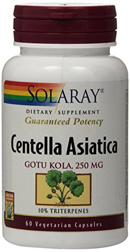 Solaray Centella Asiatica Madagascar, 250 mg, 60 Count