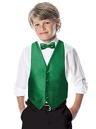 Boy\'s Backless Paragon Jacquard Vest in Custom Colors by Dessy Group - Shamrock - Size BM