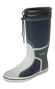 Gul Deck Full Length Boot - Navy/Charcoal, Size 10
