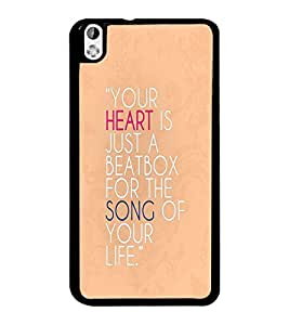 PrintDhaba Quote D-3324 Back Case Cover for HTC DESIRE 816 (Multi-Coloured)