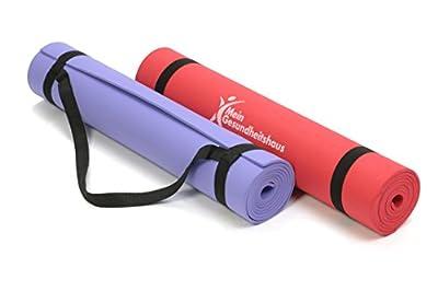 Yoga Matte verschiedene Farben, 183x61x0,5cm, inkl. Tragegriff