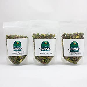 Braga Organic Farms Organic Raw Pistachio Kernels, 3 of our 1/2 lb bags