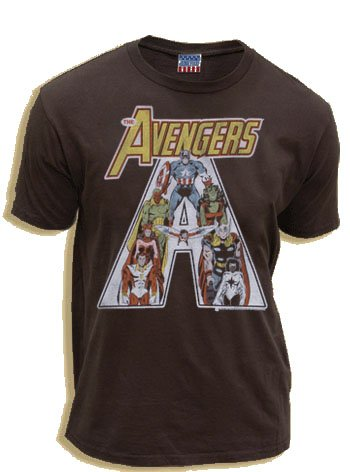 Junk Food The Avengers Vintage Washed Black Adult T-shirt Tee