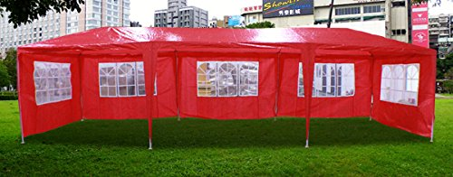 New 30'X10' Outdoor Party Wedding Tent Gazebo Events Pavilion - Red front-763321