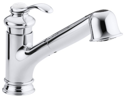 KOHLER K-12177-CP Fairfax Single Control Kitchen Sink Faucet, Polished Chrome