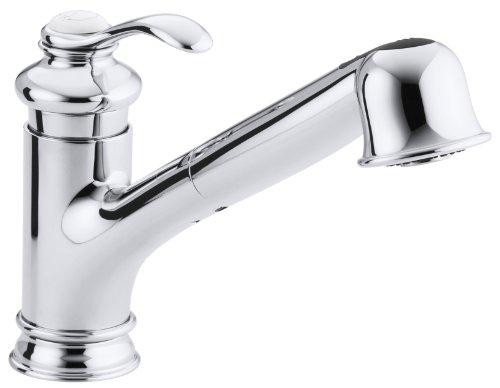 KOHLER K-12177-CP Fairfax Single Control Kitchen Sink Faucet, Polished Chrome