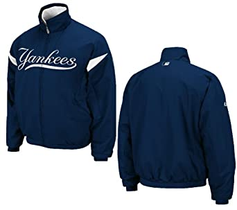 Majestic Youth New York Yankees Navy Triple Peak Therma Base Premier Dugout Jacket by VF