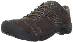 KEEN Men\'s Austin Shoe,Chocolate Brown,11 M US