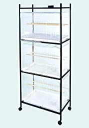 A & E Cage 503 Stand-4 Black 4 Tier, Stand for 503 Cages