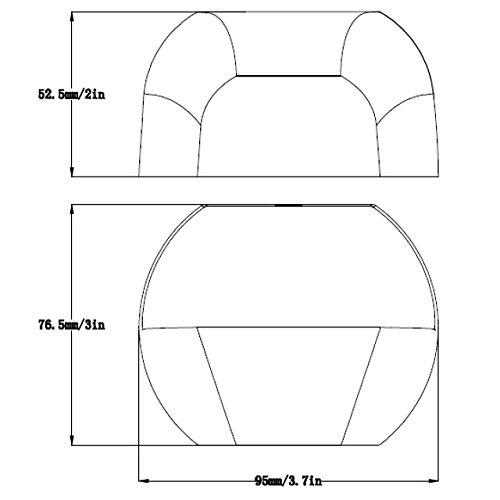 LEDwholesalers Low Voltage Outdoor Landscape Cast Aluminum LED Deck Light 12V AC/DC 2W (6-Pack), 3754WWx6