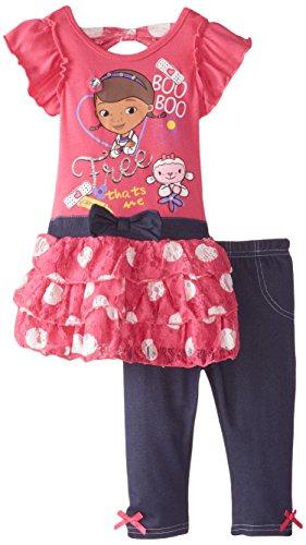 Disney Little Girls' 2 Piece Doc McStuffins Screen-Print Legging Set, Pink, 2T (Doc Mcstuffins Clothes compare prices)
