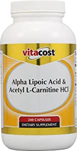 Vitacost Alpha Lipoic Acid & Acetyl L-Carnitine HCl -- 1,600 mg per serving - 240 Capsules by Vitacost Brand
