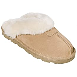 Product Image Women's Chandra Suede Scuff Slippers - Tan